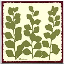 product image for TILES, WALL PLAQUES AND TRIVETS, HAND PAINTED WITH BOTANICAL THEMES -BRIDAL VEIL # BB-5