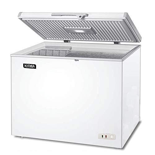 Commercial Top Chest Freezer - KITMA 9.6 Cu. Ft. Deep Ice Cream Freezer with Adjustable...