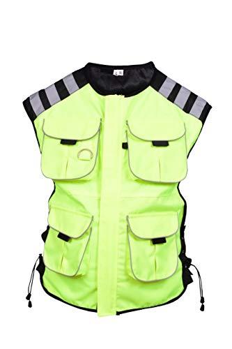 Pro Eerste MB Mens Motorfiets Beveiliging Reflecterende Waterdichte Motorfiets Hiviz Taillejas Hoge Zichtbaarheid 6XL/7XL 4-Pocket yellow