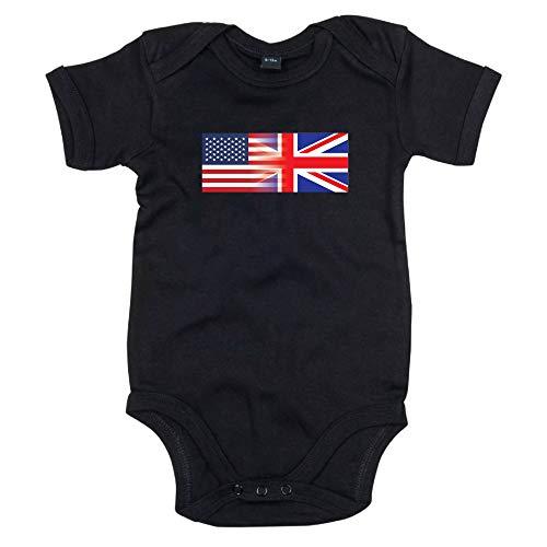 Chaleco para bebé con bandera de Estados Unidos e Inglaterra unisex