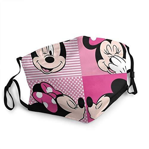 Mickey Minnie Máscara para Cubrir la Cara, Suave Bandana Bufanda Reutilizable Lavable Tela Transpirable Ajustable para Uso público