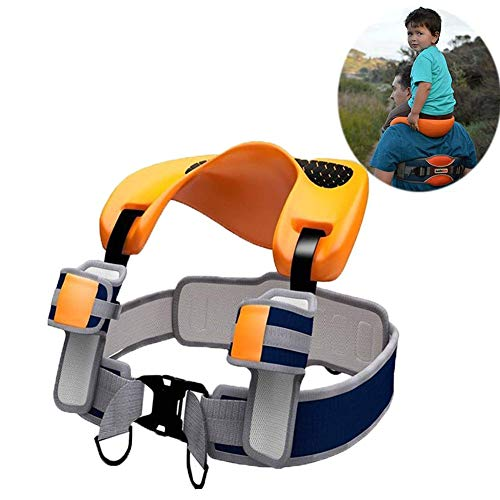 Child Baby Hands Free Backpack Saddle Shoulder Strap Protection Ergonomic Design with Ankle Straps for Children for Toddlers 2-5 Years, Street Markets, Hiking, etc.