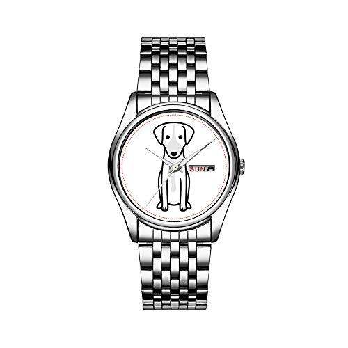 Reloj de pulsera para hombre de lujo, resistente al agua, 30 m, con fecha, reloj de pulsera deportivo, de cuarzo, casual, regalo austriaco, pelo corto, pincho, perro, dibujos animados