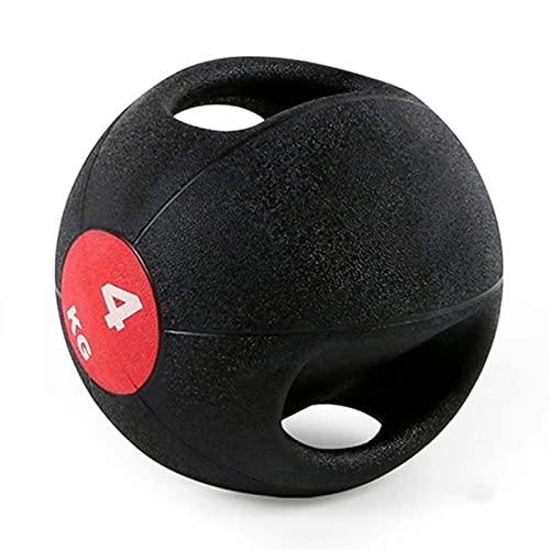 PLUY Balón Medicinal Deportivo Binaural Adult Fitness,Equipo de Ejercicio aeróbico en el hogar,3 kg/4 kg/5 kg/6 kg/7 kg/8 kg/9 kg/10 kg (Tamaño:10 kg/22 LB)