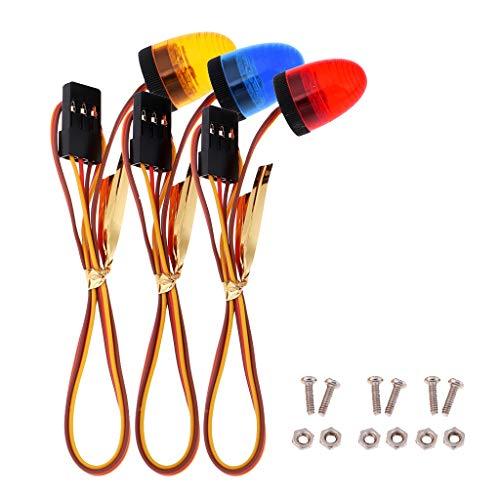 perfeclan 1/12 Escala RC Modelos 3CH LED Intermitente Luz de Policía Giratoria para TF2 D110