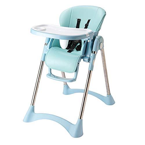 XIAFEN Trona para bebé 2 en 1 con Altura, inclinación y reposapiés Ajustables Bandeja de Comida Apta para lavavajillas para niños pequeños, de 6 Meses a 5 años,Azul