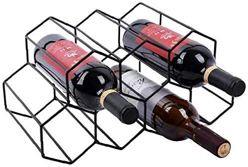 SETSCZY Botellero para 7 botellas de vino, de pie, estable, ligero, se puede colocar horizontalmente