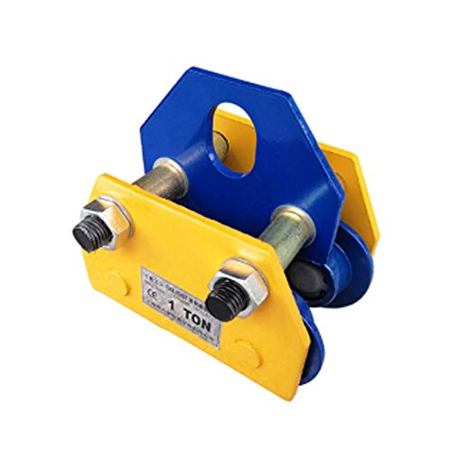 NEWTRY Manual Trolley 2T Push Beam Trolley 4400LBS Roller Pulley Heavy Duty Hoist Crane Lift for Straight Curved I Beam (2T/4400LBS)