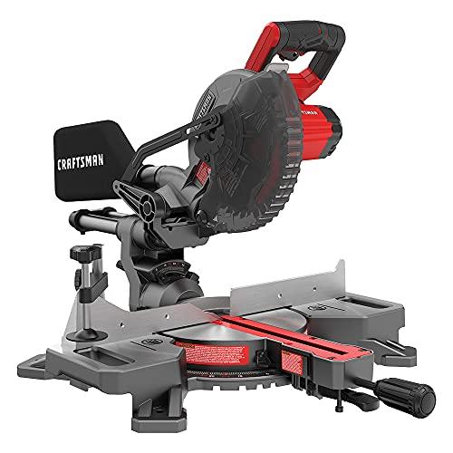 CRAFTSMAN V20 7-1/4-Inch Sliding Miter Saw Kit, Cordless...