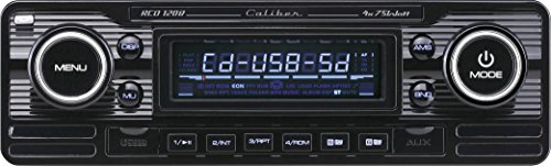 Caliber RCD120B retrodesign autoradio met CD (SD-kaartsleuf, USB-aansluiting) zwart