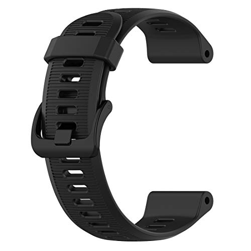LOKEKE for Garmin Forerunner 945 Replacement Band, Replacement Silicone Wrist Band Strap For Garmin Forerunner 945/935/ Approach S60/ Fenix 5/5 Plus(Silicone Black)