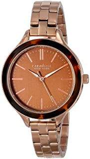 Caravelle New York Women's 44L128 Analog Display Japanese Quartz Rose Gold Watch