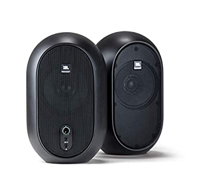 JBL Professional 1 Series, 104 Compact Powered Desktop Reference Monitors (sold as pair), Black (JBL104) from JBL Professional