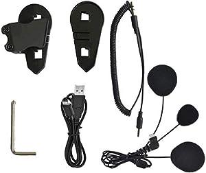 Veetop Accessori per Interfono moto bluetooth, Auricolare Casco Moto Bluetooth