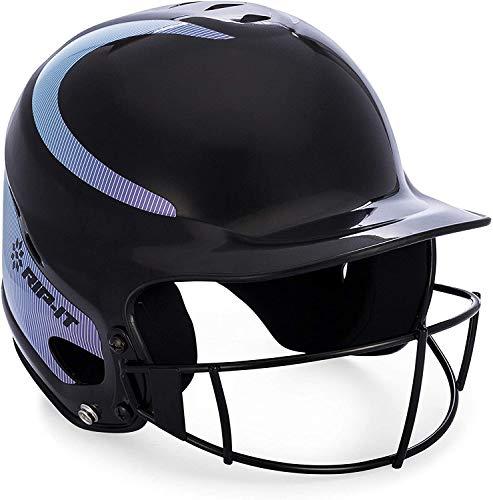 RIP-IT Vision Classic Away Softball Batting Helmet (Aqua/Purple, Small/Medium)