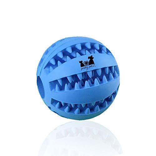 Pretty PetZ Hondenspeelgoed van natuurlijk rubber, intelligent speelgoed voor honden, premium kwaliteit voor duurzaamheid, speelgoed voor dieren, inclusief gratis e-book, 1 - Dental Ball Ø 7 cm, blauw