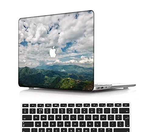 NEWCENT MacBook Pro 13' Funda,Plástico Ultra Delgado Ligero Cáscara Cubierta EU Teclado Cubierta para MacBook Pro 13 Pulgadas con Touch Bar Touch ID(Modelo:A1708/A1706/A1989/A2159),Vistoso A 0210