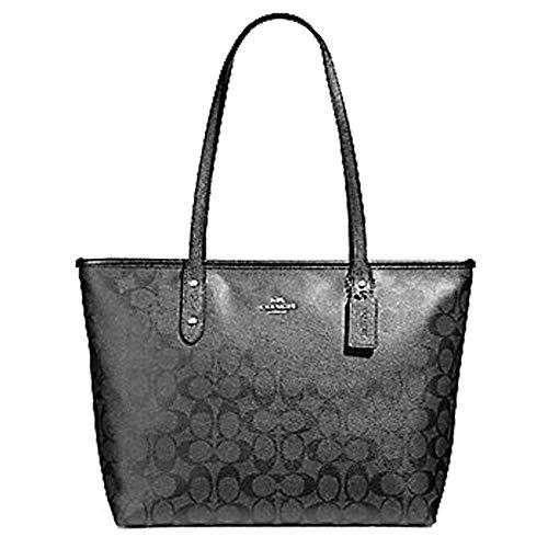 Coach Signature City Handtasche mit Reißverschluss, Gunmetal