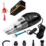 Portable Car Vacuum Cleaner, Automotive Dry/Wet High Power Corded Vacuum w/ 13.12 Foot Cable 12V Best Car Vehicle Truck Auto Accessories Kit for Cleaning Car Interior Care