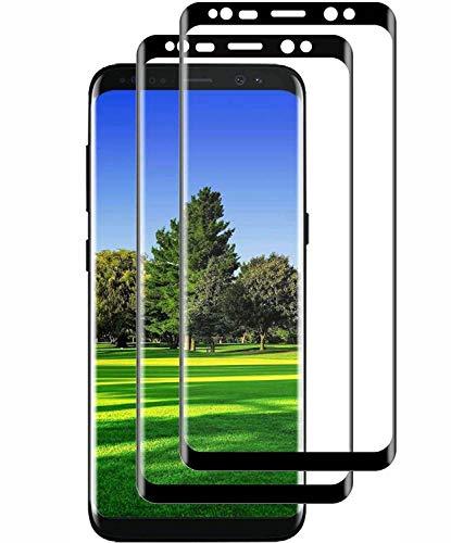 Schutzfolie kompatibel mit Samsung Galaxy S8, [2 Stück] 9H Härte 3D Volle Abdeckung Panzerglasfolie,Anti-Kratzen Anti-Öl Blasenfrei HD Displayschutzfolie für Galaxy S8
