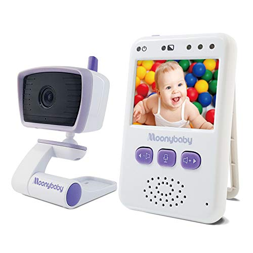 Moonybaby Value 100 Non-WiFi Video Baby Monitor, 1 Camera and 2.4 Inch Monitor, Long Range, Auto Night Vision, 2 Way Talk Back, Zoom in, Power Saving and VOX, Voice Activation