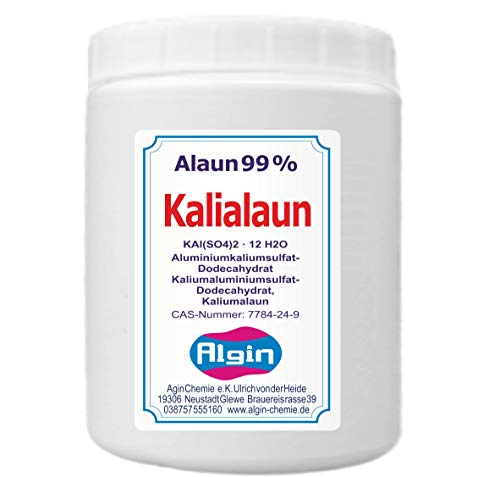 Kalialaun Alaun 1 kg Dose Aluminiumkaliumsulfat-Dodecahydrat natur