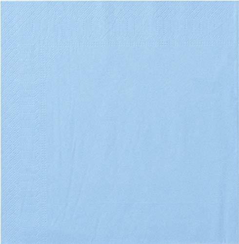 Toalla, 2 Hojas, 20 x 20 cm, Azul Azul, 18 Paquetes de 100