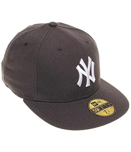 New Era New York Yankees - 59fifty Cap - MLB Basic - Graphite/White - 7-56cm (M)