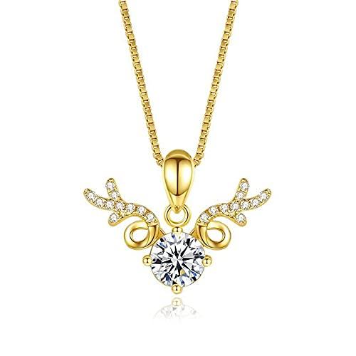 Shuang Collar de mujer de plata de ley temperamento de moda Yilu has you collar clavícula cadena viento frío joyería oro