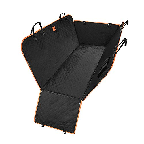 Siivton Dog Seat Cover,Waterproof & Scratch Proof Soft Car Back Seat Covers Dog Hammock for Cars, Trucks, SUVs with Side Flaps