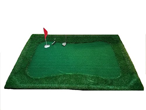 Low Country Pastimes- Float N' Chip 4' x 6' Floating Golf Green- Ultimate Backyard Golf Game