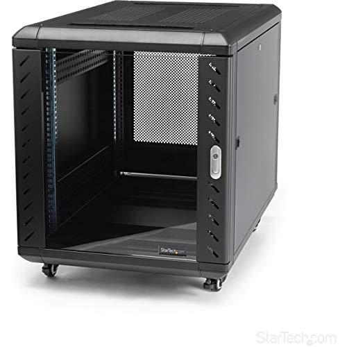 """StarTech.com RK1236BKF - Armario Rack Cerrado para ensamblar (36"""", con rodamientos) Color Negro"""