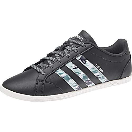 adidas Coneo Qt, Zapatillas de Tenis Mujer, Gris (Carbon/Carbon/Clowhi Carbon/Carbon/Clowhi), 36 2/3 EU