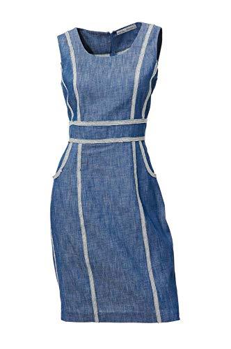 Ashley Brooke Damen Designer-Jeanskleid, blau, Größe:36