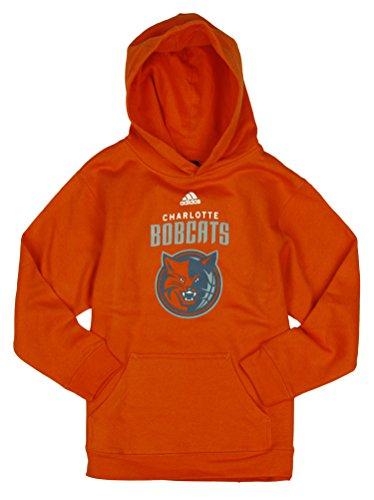 Adidas Performance Charlotte Bobcats NBA Big Boys Youth Team - Sudadera con Capucha, Talla Grande, Color Naranja (14 – 16), Naranja, Large (14-16)
