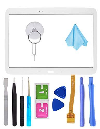 Tefir Bianco Touch Repair Glass per Samsung Galaxy Tab 3 10.1 P5200 P5210 (No LCD) con Adesivo e Strumenti