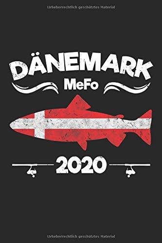 Dänemark MeFo 2020: Angler Tagebuch zum Meerforellen Angeln in Dänemark - Fangbuch 100 Seiten 6'' x 9'' (15,24cm x 22,86cm) DIN A5 Kariert