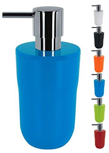 Spirella - Dispenser per sapone liquido, capacità 7,5 x 7,5 x 16,5 cm, 300 ml, colore: Blu
