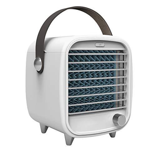 Ymlove Minikühler USB Wiederaufladbarer tragbarer Desktop Kleiner Kühlventilator für Klimaanlagen, Niedrigenergie, LED-Licht