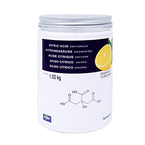 BIOLOGICO. Acido Citrico (E330) in polvere 100% puro con certificazione CAAE per la produzione di alimenti biologici. Qualità Premium. Adatto per vegetariani e vegani. Privo di glutine, di agenti transgenici e di antiagglomeranti. Codice europeo di r...