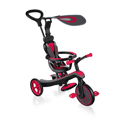 Globber - Tricycle et draisienne tout en un - Trike Explorer 4 en 1 - Rouge