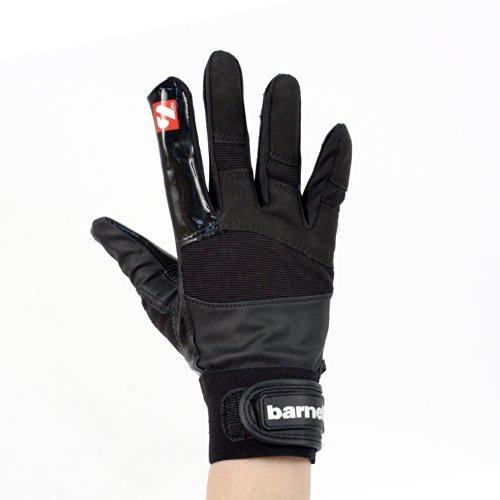 FRG-01 American Football Handschuhe Receiver/Empfänger, RE,DB,RB, schwarz (XL)