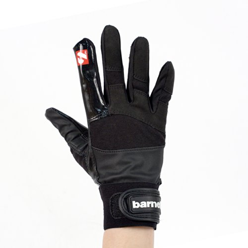 FRG-01 American Football Handschuhe Receiver/Empfänger, RE,DB,RB, schwarz (S)