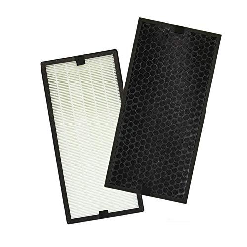 PUREBURG Replacement HEPA Filter + Activated Carbon Filter Compatible with Rowenta Intense Pure AIR XL Purifier PU60XX Series PU6010 PU6015 PU6020 PU6025 PU6040 PU6045 Part # XD6077U0 XD6061 XD6066