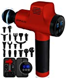 FITPULSE Muscle Massage Gun for Athletes - Percussion Massager Deep Tissue Massager Percussion Massage Gun Massagers for Muscles Handheld Deep Tissue Massage Gun Deep Muscle Massager Gun Bright Red…