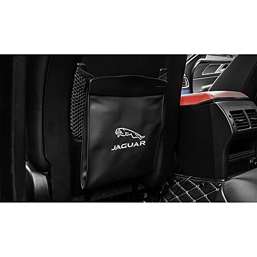 1 pc leather car interior with creative hanging multifunctional seat back storage bag box car trash can for Jaguar Automotive interior