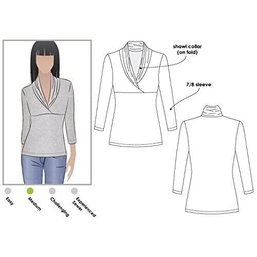 ARC Style Sewing Pattern Sizes 04-16 Evie Knit Top - Click for Other