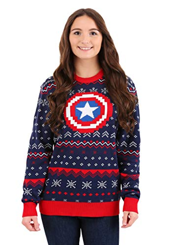 Marvel: Captain America Ugly Christmas Sweater X-Large Blue