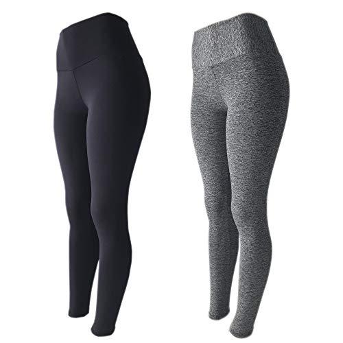 Kit 2 Legging Suplex Estampada Ou Lisa Leg Academia Ginastica, LEGBrasil, preto-cinza, P