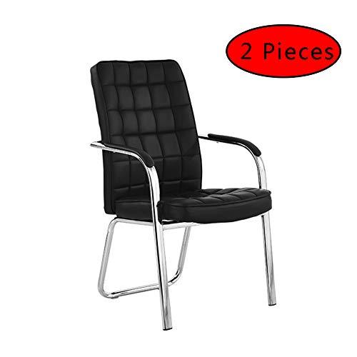 HUINING Bürostuhl Rahmen Elegance Chefsessel Drehstuhl Konferenz-Stuhl Für Büroarbeit Mit Armlehnen Ergonomisch Designklassiker Hochwertige Verarbeitung,Black